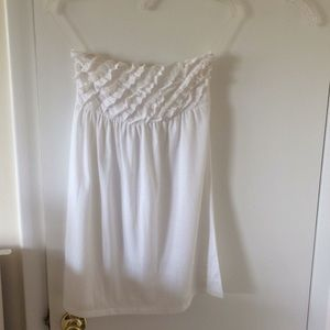 White small bathing suit cover-up mid thigh